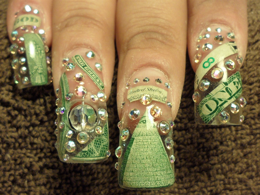 Show me da money nail art gallery prinsesfo Images