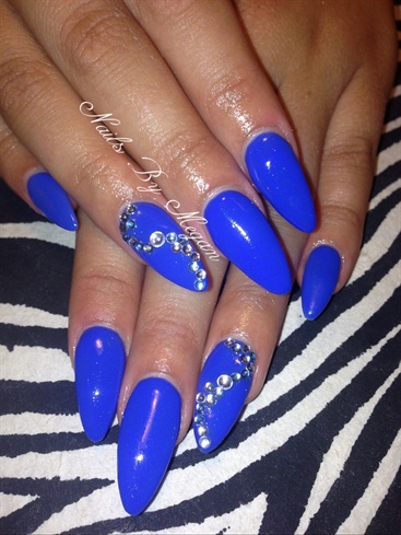 blue bling  nail art gallery