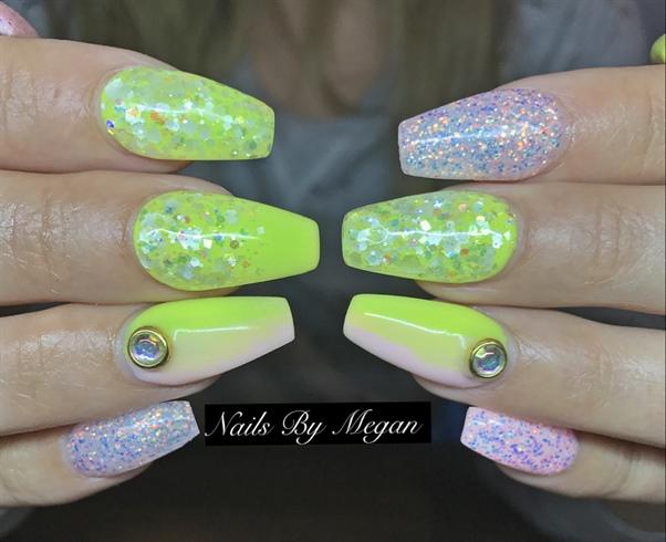 Yellow Bday Nails