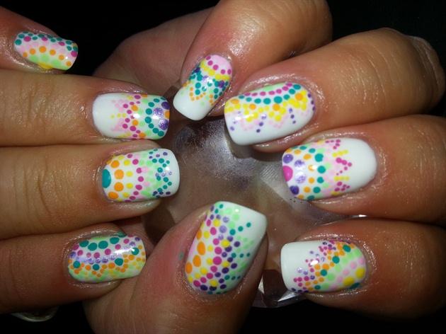Summer dot nail art nail art gallery summer dot nail art prinsesfo Gallery