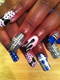 Drips, bling, polka dots, stripes...
