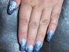 Blue glitter acrylics