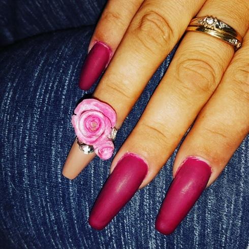 Acrylic nails done by Princess Nails By Sara