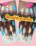 acrylic oval shaped nails
