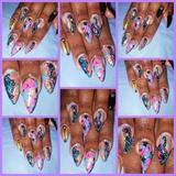 acrylic stiletto shaped nails