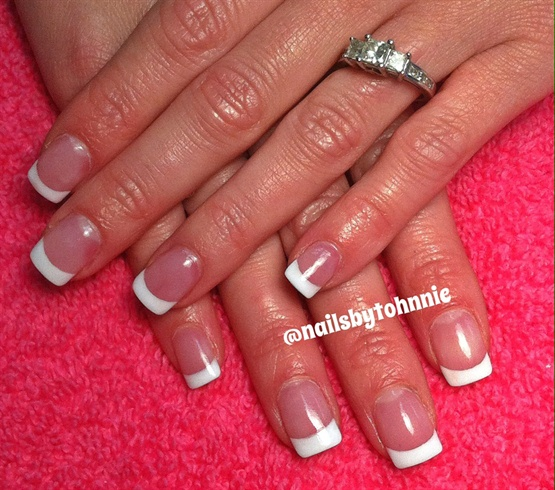 Classic Pink White Full Set Nail Art Gallery