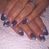 Acrylic With Matte Gel And Designs