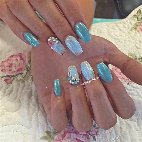 Mermaid Nails 🐳🐠