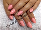 Gel nails with custom blend shellac