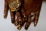 cheeta n gold minx nails
