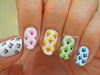 Ombre Floral Nail Art