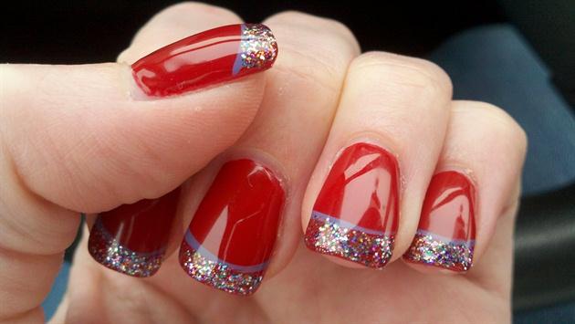 Red glitter cutics