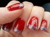 Red glitter cutics