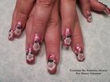 pink glitter w/3-d