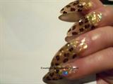 Gold glitterw/leopard print