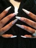 Stiletto & White Diamonds