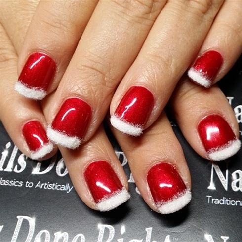 santa suit nails  nail art gallery