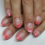 Akzentz Pink & coral glitter tips