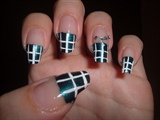 Plaid nail design