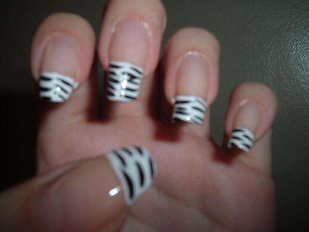 Zebra Print Nail Design Nail Art Gallery