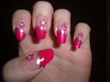 Sideswipe flower nail design
