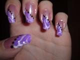 Purple Crackle Design