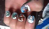 Christmas Scene Nails