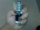 Lady GaGa inspired Black&White Dots