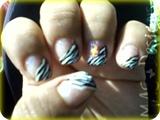 Angle Zebra French w/ Flower
