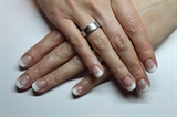 Shellac french with snowflakes