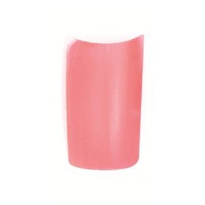 Polish the nail bright pink.