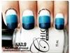 Blue Gradient Matte Nails