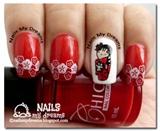 Red Kimono Nails