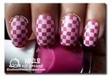 Pink Checkerboard Nails