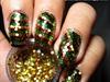 Reggae Christmas Inspired Nail Art