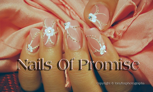 Pretty Blossoms. Nails Of Promise