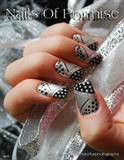 Silver & Black Polka Dots. Nails Of Prom