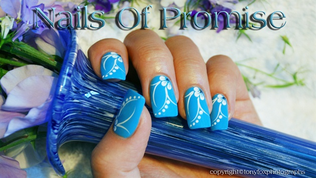 Acrylic Blue. Nails Of Promise