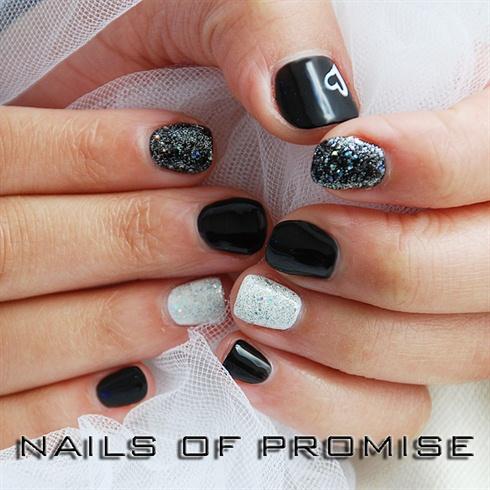 shellac on short nails  nail art gallery