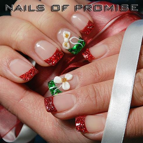 glitter tips for christmas  nail art gallery