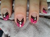 Pink,black and rhinestone