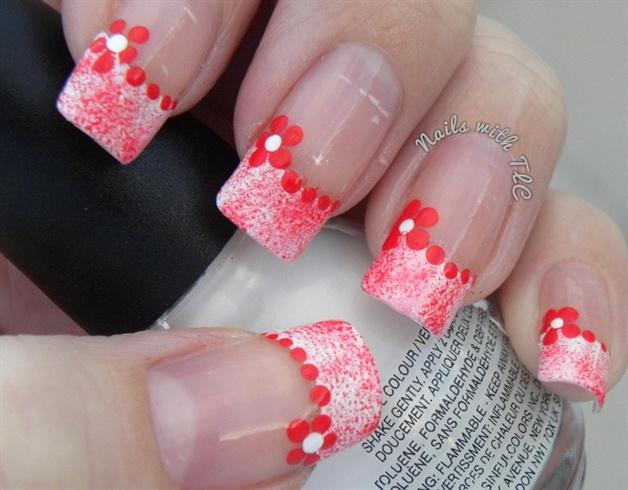 Simple valentine flower design nail art gallery simple valentine flower design prinsesfo Gallery