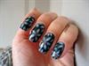 Blue Flower Nail Art