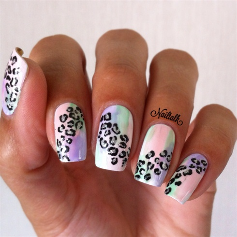 Leopard Nails Nail Art