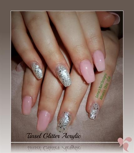 Ballerina Nails Tinsel Glitter