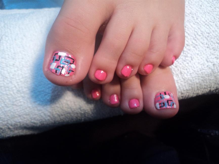 Abstract Hot Pink Nail Design - Nail Art Gallery