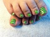 Lime Green Zebra