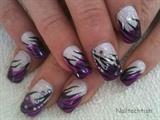 Purple Ombre Zebra