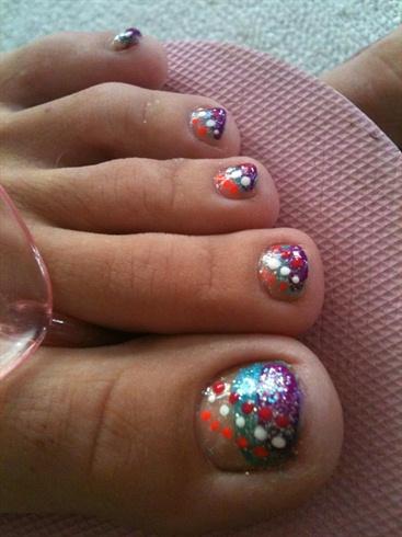 summer polka dots  nail art gallery