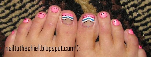 Hot pink toes nail art gallery hot pink toes prinsesfo Choice Image